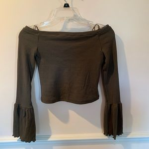 LF off the shoulder flare sleeve top